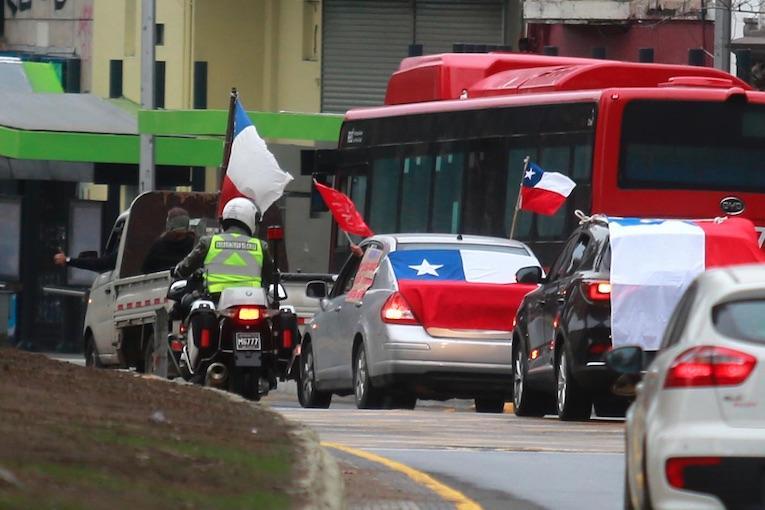 Carabinero Caravana Rechazo