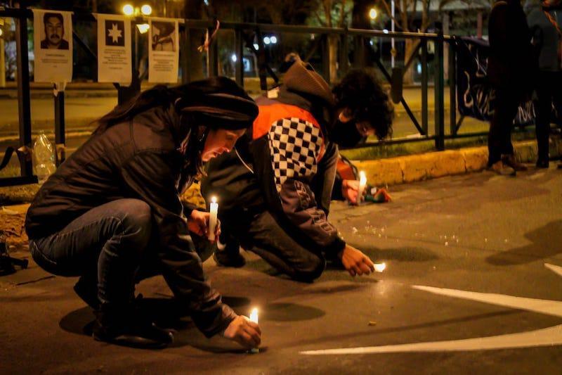 Manifestación Plaza Ñuñoa