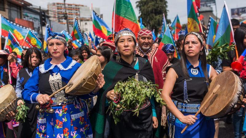 Mapuches se movilizan Santiago