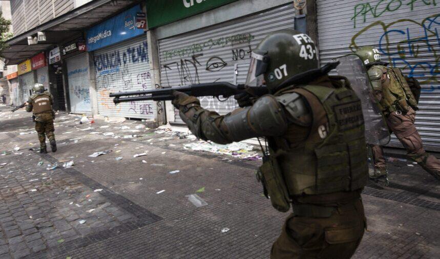 policia disparando