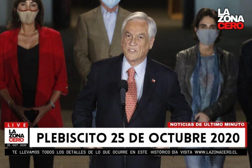 [VIDEO] Sebastián Piñera habla del triunfo del Apruebo en La Moneda