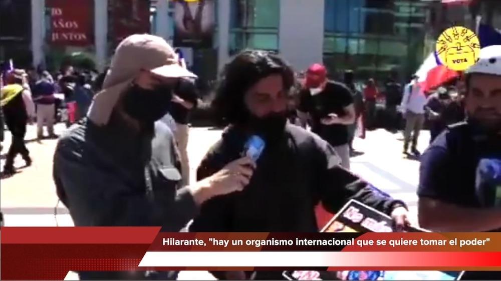 [Hilarante Video], en marcha del Rechazo un ciudadano da su argumento.