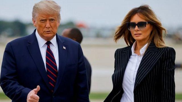 Donald Trump y su esposa , dieron positivo por COVID-19