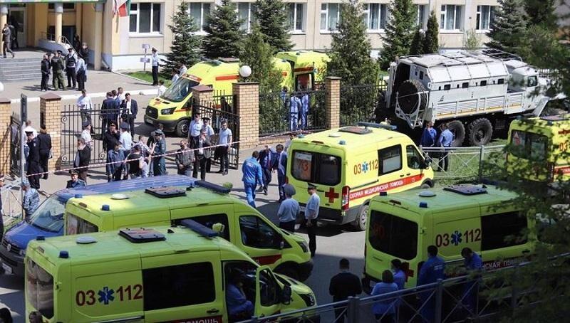Terrible tragedia en la ciudad Rusa de Kazán