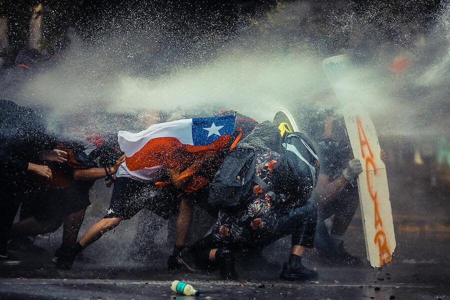 «Chile Resiste» la fotografía que resultó quinta en All About Photo Awards